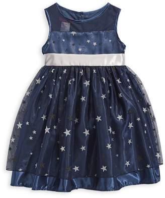 Princess Faith Little Girl's Star-Print Tulle Dress