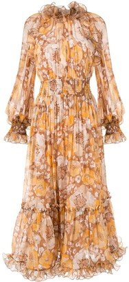 Zimmermann Super Eight floral-print midi dress
