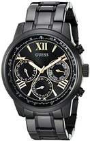 GUESS Women's U0330L15 Classic Black Multi-Function Watch with Gold-Tone Accents