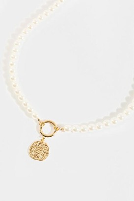 francesca's Heather Pearl Necklace - Pearl