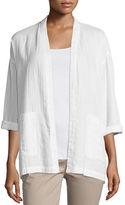 Eileen Fisher Organic Cotton Open-Front Boxy Jacket, Petite