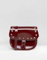 The Leather Satchel Company Studded Saddle Bag