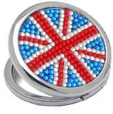 Danielle Union Jack Round Compact with Acrylic Stones 2Magnified