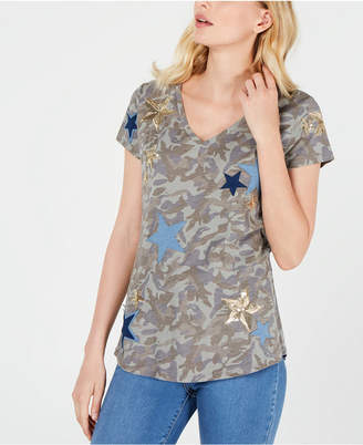 INC International Concepts Inc Camo & Stars T-Shirt