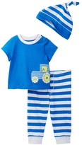 Offspring Tractor Tee, Pant, & Hat Set (Baby Boys 3-9M)