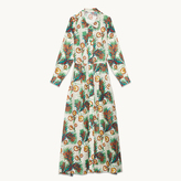 Maje Long printed shirt dress