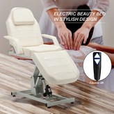 Electric Spa Salon Facial Reclining Massage Chair Symple Stuff Fabric: White