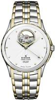 Edox Men's 85013 357J AID Grand Ocean Automatic Steel and Gold PVD Window Watch
