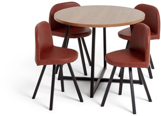 Argos Home Nomad Oak Effect Dining Table & 4 Chairs