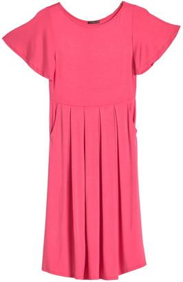 WEST KEI Flutter Sleeve Pocket Dress