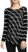 Vince Camuto Women's Stripe Duet Top