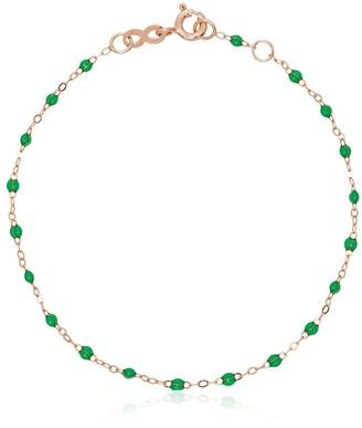 Gigi Clozeau 18k Rose Gold Green Beaded Bracelet