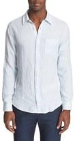 Onia Men's 'Abe' Trim Fit Stripe Linen Shirt