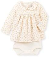 Petit Bateau Baby girls printed blouse-bodysuit
