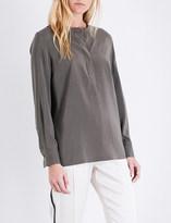 Brunello Cucinelli Stretch-silk shirt