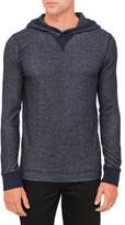 BOSS ORANGE Navy Hooded Towelling Sweatshirt