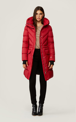 Soia & Kyo KARA above-knee-length down coat with detachable hood