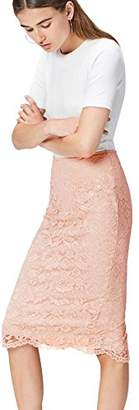 find. Women's Skirt in Pencil Shape with Lace Overlay,(Manufacturer size: Large)