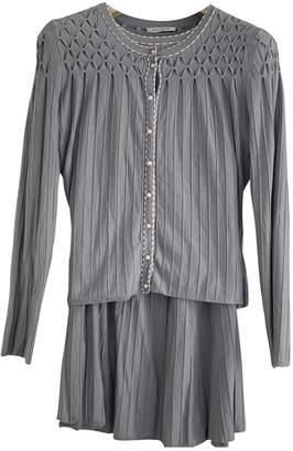 Rodier Grey Silk Dress for Women