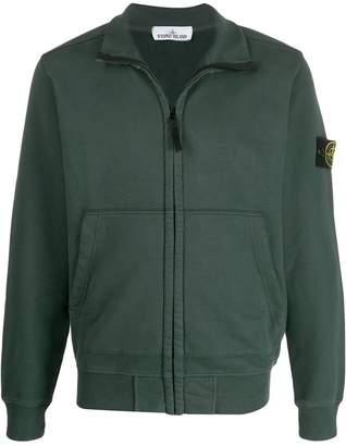 Stone Island logo patch zip-up jacket