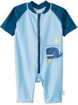 I Play Blue Whale One Piece UV Zip Sunsuit (6mos3T) - 8114116