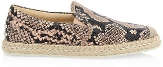 Tod's Slip-On Python & Leather Espadrille Sneakers