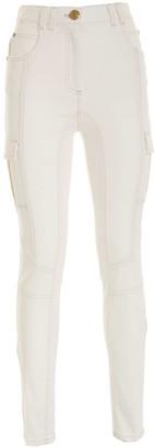 Balmain Pocket Detail Skinny Cargo Jeans