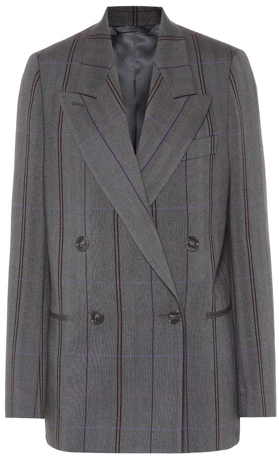 Acne Studios Checked wool and cotton blazer
