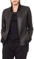 Akris Punto Women's Detachable Hem Leather Bomber Jacket