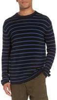 Vince Men's Reverse Tuck Stitch Stripe Sweater