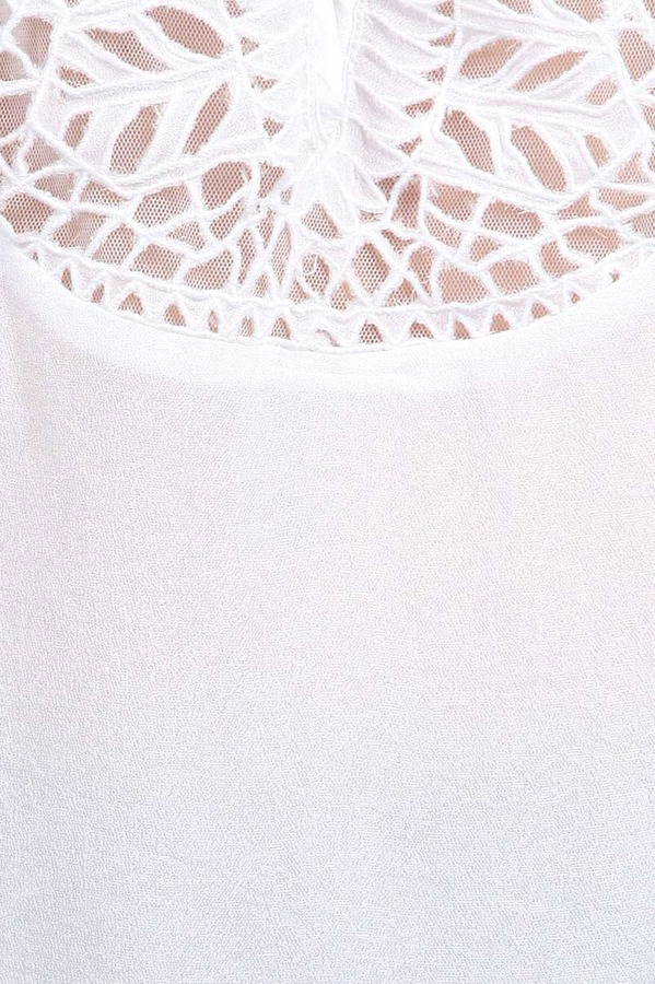 Chelsea Flower Lasercut Viscose Blouse in White