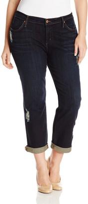 James Jeans Women's Plus-Size Neo Beau Z Classic Boyfriend Jean in Westminster