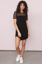 Garage Mesh Shoulder T-Shirt Dress