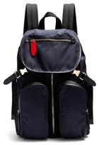 Neil Barrett Leather-trimmed Nylon Backpack