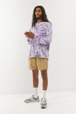 Iets Frans... iets frans. Tie-Dye Long-Sleeve T-Shirt - Purple XS at Urban Outfitters