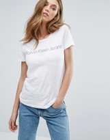 Calvin Klein Jeans Logo T-shirt In Regular Fit