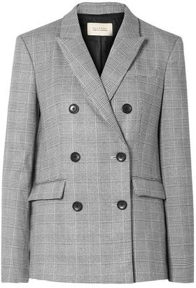 Equipment + Tabitha Simmons Hamish Oversized Prince Of Wales Checked Voile Blazer