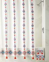 John Robshaw Aloka Shower Curtain, Coral