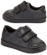 Gucci Brooklyn Leather-Trim Canvas Sneaker, Toddler