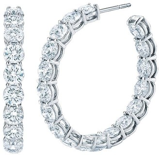 Kwiat Platinum Diamond Hoop Earrings