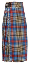 Charles Jeffrey Loverboy Loverboy Pleated Wool-tartan Kilt Skirt - Womens - Beige Multi