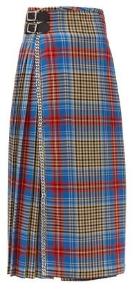 Charles Jeffrey Loverboy Loverboy Pleated Wool-tartan Kilt Skirt - Womens - Beige Multi