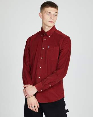 Barbour Cord 1 Tailored Shirt Rust