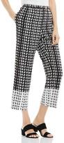 Vince Camuto Geometric Print Cropped Pants