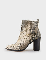 DKNY Houston Snake Print Ankle Boot