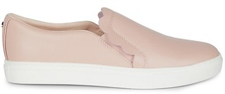 Kate Spade Speed Scallop Leather Slip-On Sneakers