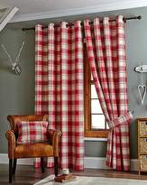 Fashion World Kindle Plaid Check Eyelet Lined Curtains