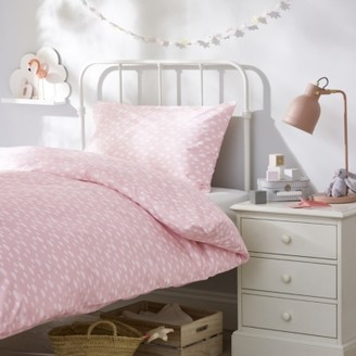 The White Company Cloud Bed Linen Set, Pink, Cot Bed
