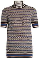 Missoni Roll-neck zigzag-striped knit top