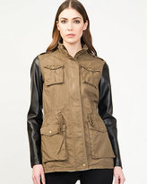 Le Château Stand Collar Military Jacket